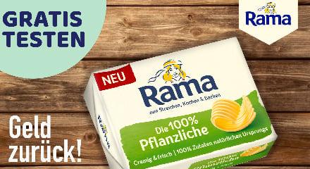 Rama 100% Pflanzliche Cashback